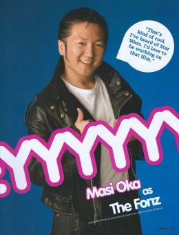 Sam Russell Portfolio - Masi Oka for Geek Monthly