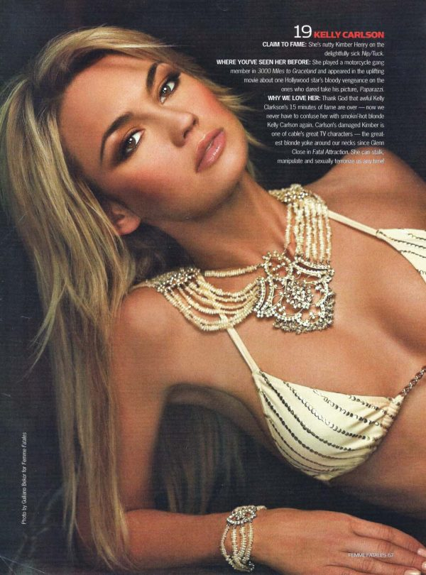 Sam Russell Portfolio - Kelly Carlson for Maxim and Femme Fatales