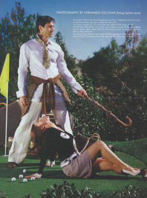 Sam Russell Portfolio - Michael Begin and Susan Ward for Vegas Magazine