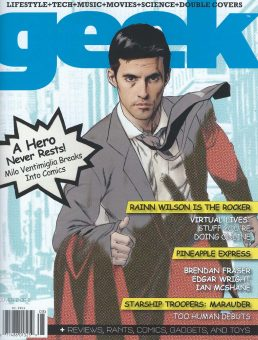 Sam Russell Portfolio - Milo Ventimiglia for Geek Monthly. Photography by Charles Bush