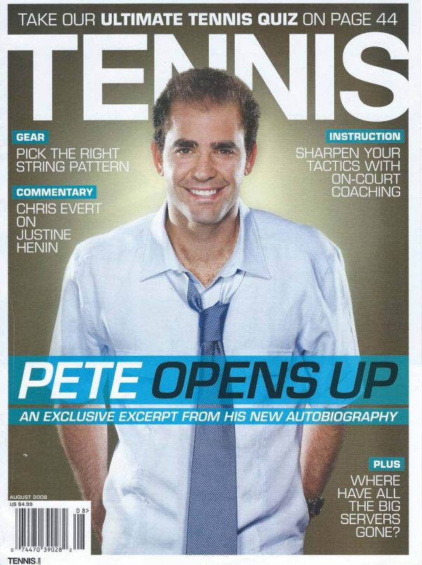 Sam Russell Portfolio - Pete Sampras wearing Reiss for Tennis Magazine. Photography by Marla Rutherford