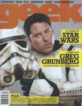 Sam Russell Portfolio - Rainn Wilson wearing Covet Clothing for Geek Monthly
