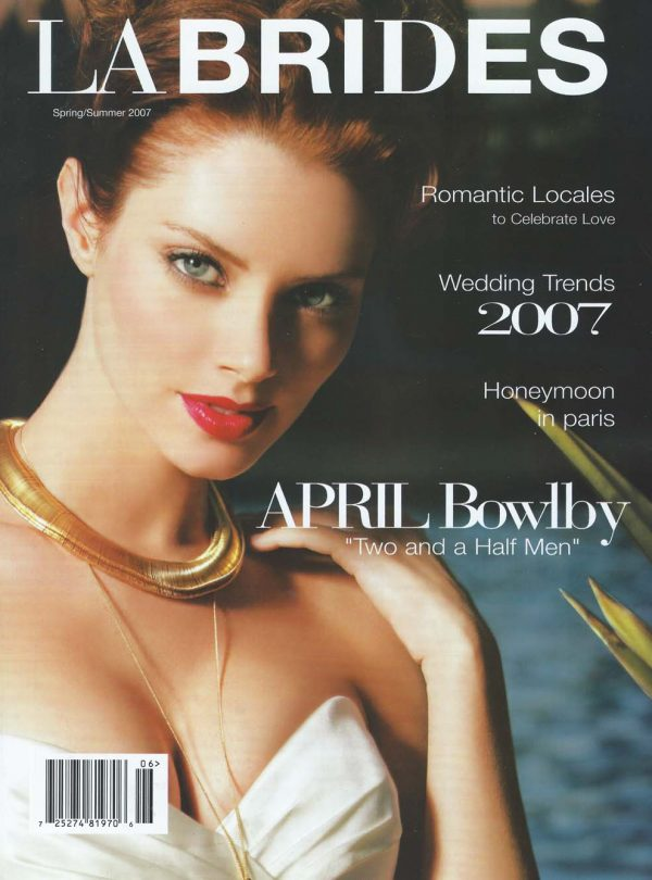 Sam Russell Portfolio - April Bowlby for LA Brides. Photography by Charles Bush