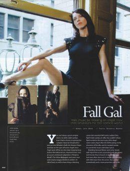 Sam Russell Portfolio - Juliet Landau for Geek Monthly. Photo by Deverill Weeks